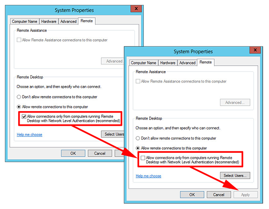 rdp authentication error unable to contact local security administrator