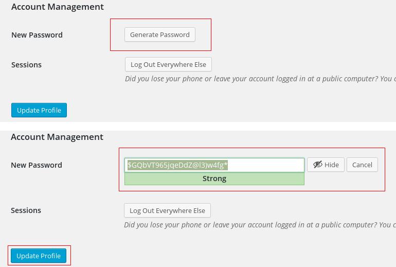 Generate secure WordPress passwords