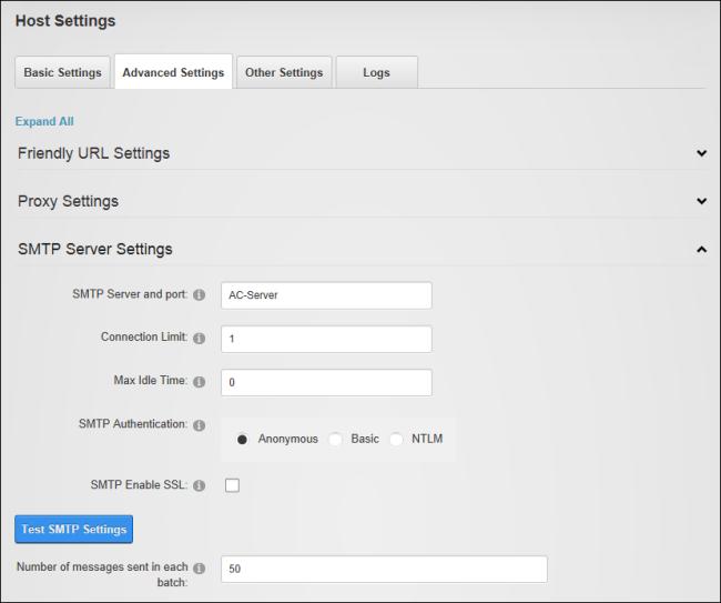 DNS send email: SMTP Server Settings