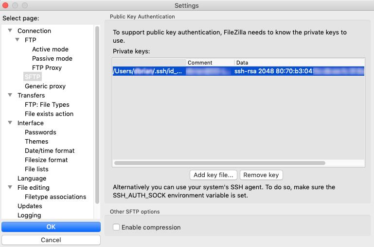 Access files on DigitalOcean: FileZilla Settings