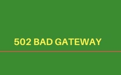How to fix '502 server error – Bad Gateway' in web servers