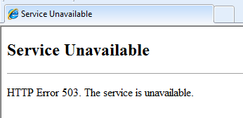 How to fix '503 service unavailable error' in your websites