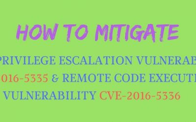 How to mitigate VMware vIDM local privilege escalation vulnerability CVE-2016-5335 and vRA remote code execution vulnerability CVE-2016-5336