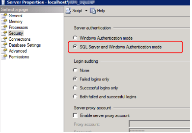 Microsoft SQL error 18452