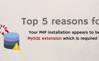 "5 reasons for error ""Your PHP installation appears to be missing the MySQL extension"" and how to fix it"
