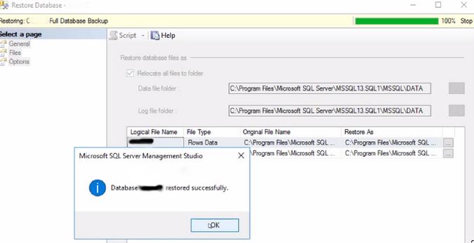 SQL error 3414