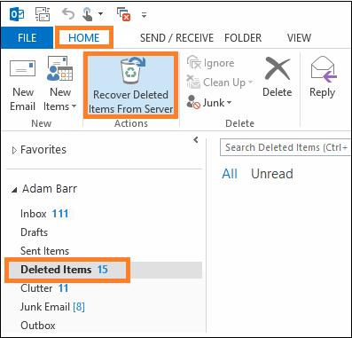 How to retrieve permanently deleted emails from Outlook