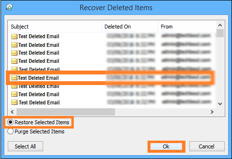 retrieve permanently deleted emails from Outlook