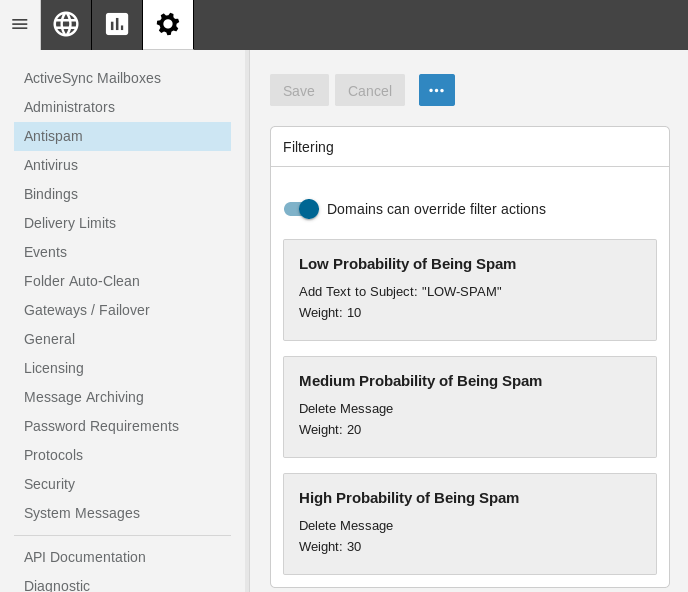 SmarterMail content filtering – Quick way to configure