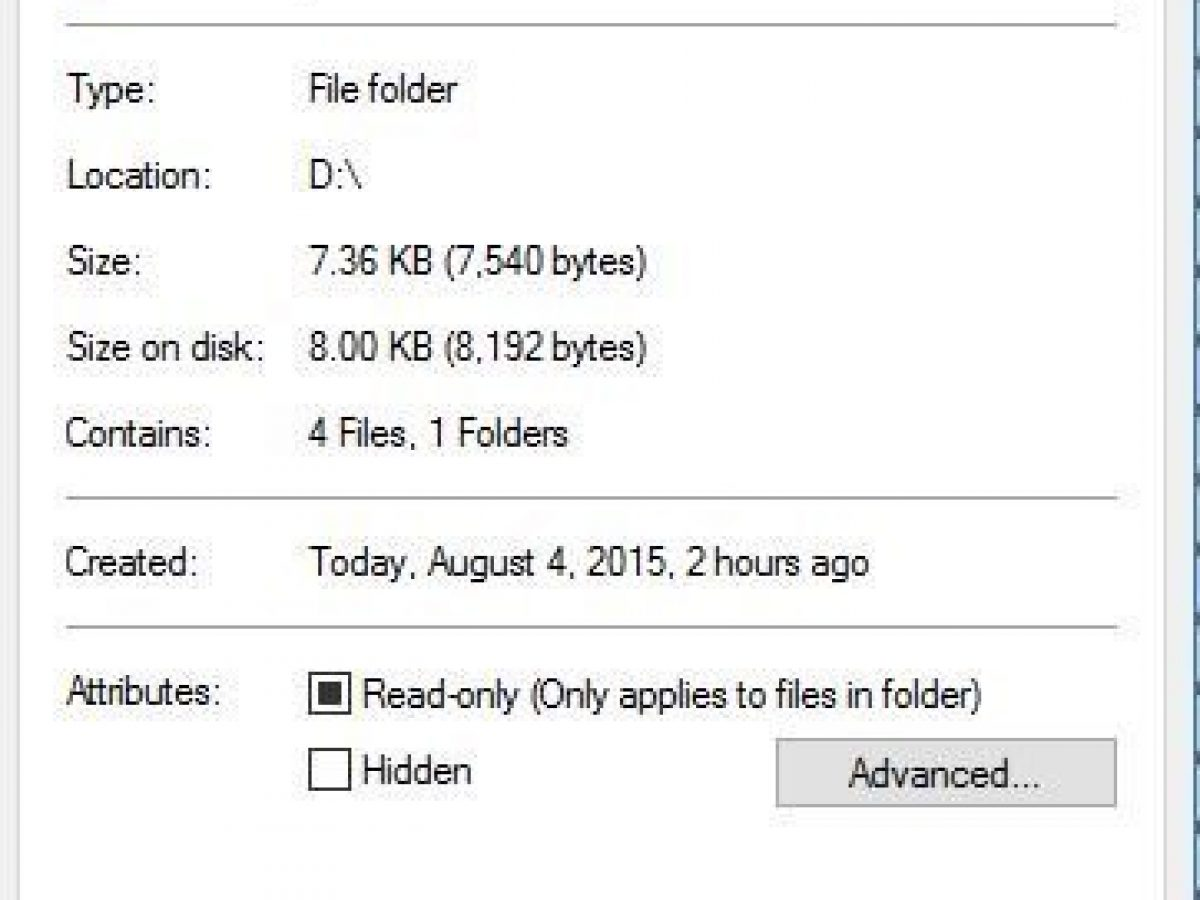 'Folder Keeps Reverting to Read Only on Windows 10'