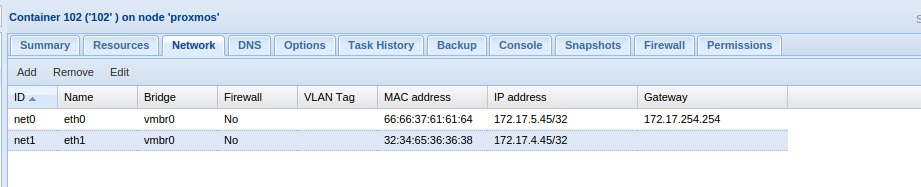 Unable to add multiple IP address in Proxmox LXC