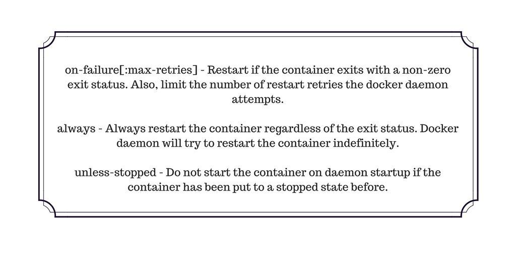 auto-restart docker containers