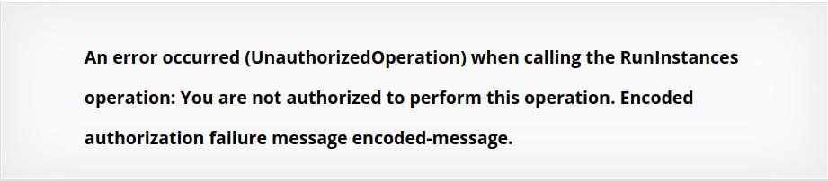 ec2 UnauthorizedOperation error