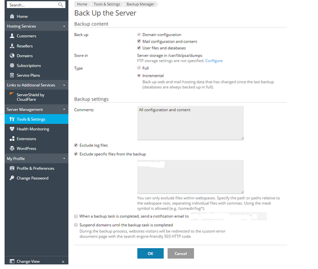 Plesk Onyx Backup – What options to choose? - Internet & Technology News