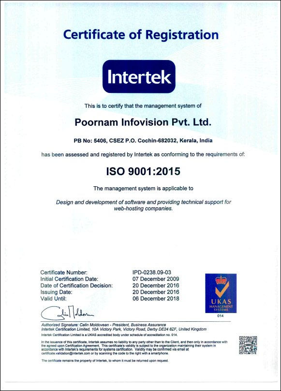 Quality Technical Support Iso 90012015 Certified