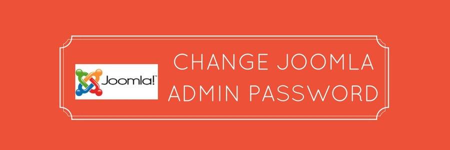3 ways to easily change Joomla admin password