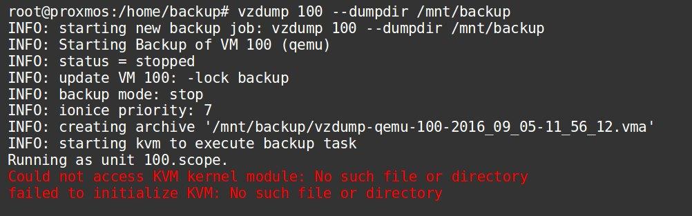 Error message - Could not access KVM kernel module - in Proxmox