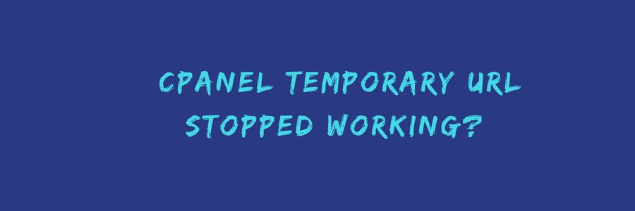 How to fix when cPanel temporary URL is not working in Litespeed servers