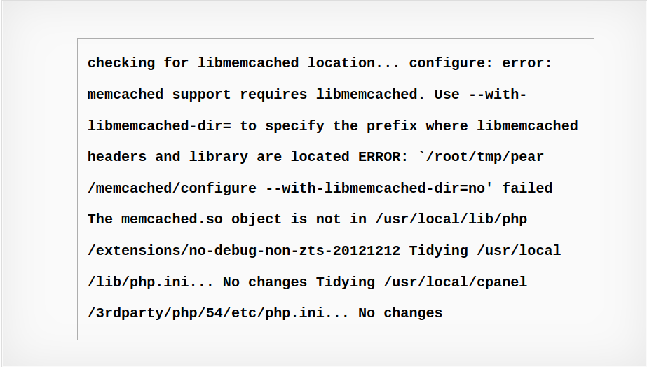Error memcached support requires libmemcached