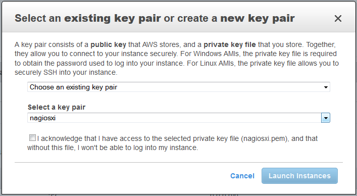create a nagios log server instance in amazon ec2 cloud