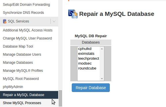 database corruption repair