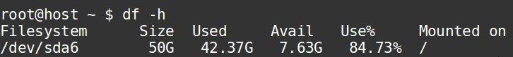 Disk usage in server