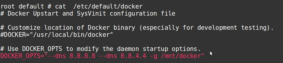 Change Docker directory in configuration file