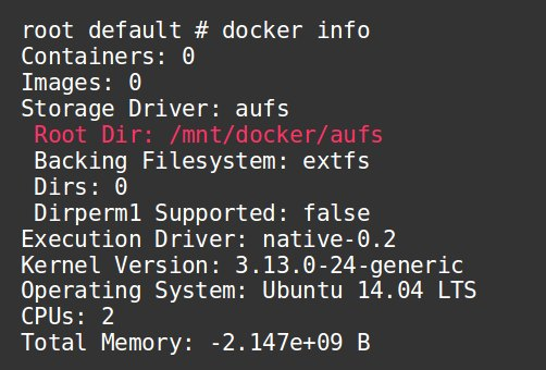 Docker directory changed to /mnt