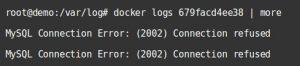examine docker container logs