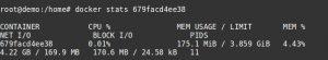 Docker container metrics