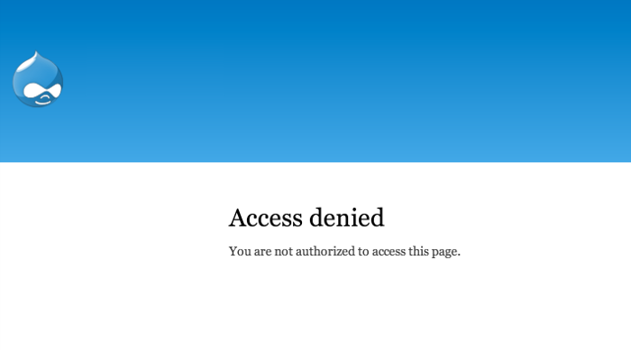 Drupal admin access denied error