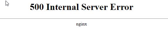 Drupal 500 internal server error