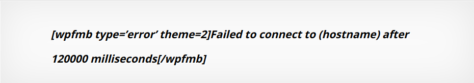 R1soft Error Failed to connect to (hostname) after 120000 milliseconds