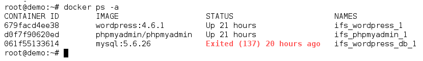 Docker container exited with error 137