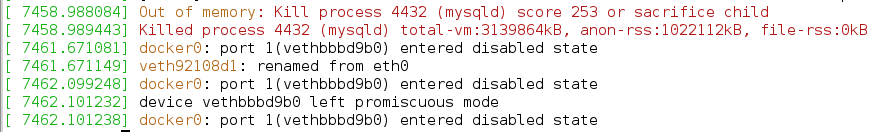Prevent Docker containers from crashing with error 137