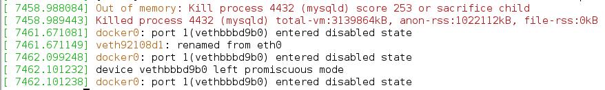 Docker error 137 - Out of memory