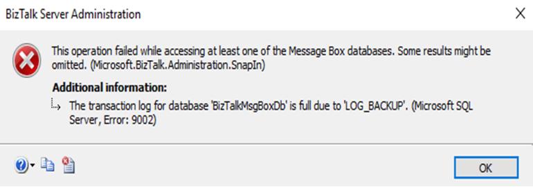 SQL Server Error 9002