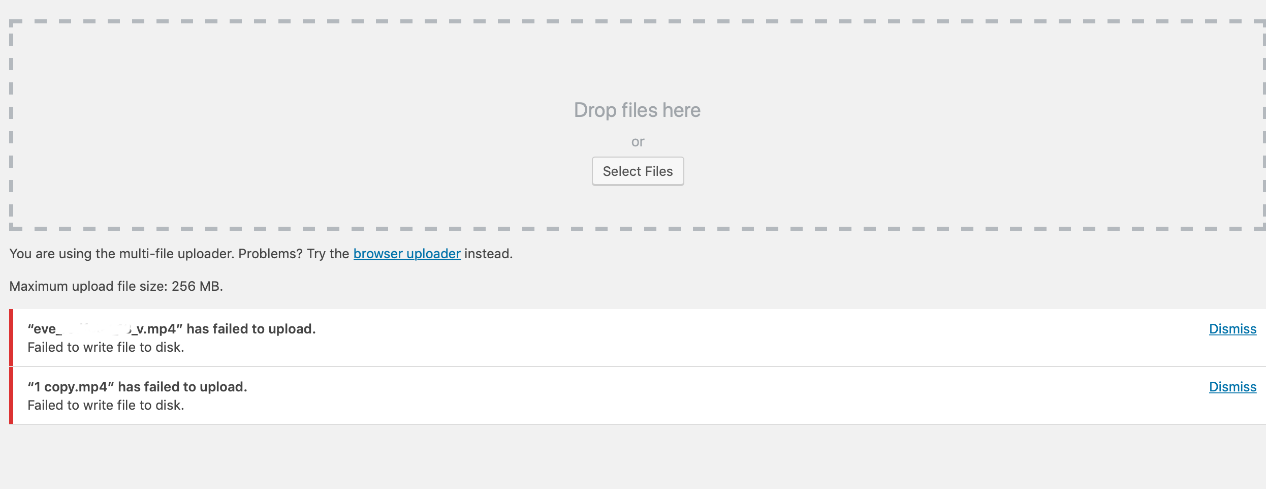 5 quick fixes for 'failed to write file to disk WordPress error'