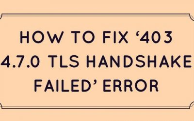 How to fix email error '403 4.7.0 TLS handshake failed' in cPanel, Plesk, Exim, Qmail, Exchange and SendMail servers