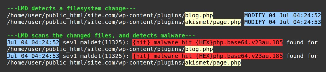 How to scan a server for malware - filesystem change
