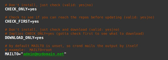 how to secure a server - yum cron