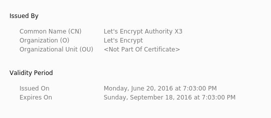 How to secure a server - Free certificates
