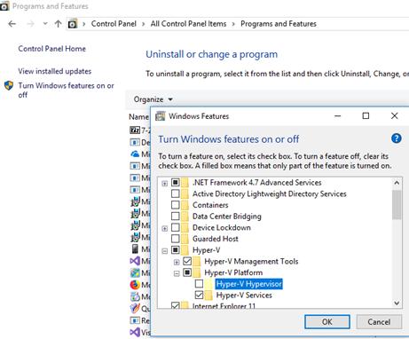 install hyper-v role in windows 10 vm under vmware esxi