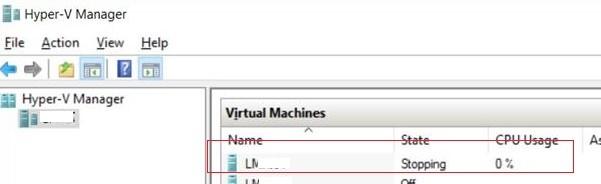 """Hyper-V VM Stuck in the """"Stopping/Starting"""" State"""