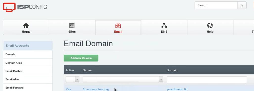 Verify an authorized mail server using ISPconfig DKIM