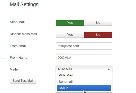 Change PHP mail to SMTP mail function