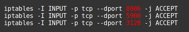 Allow connections to ports in Proxmox node