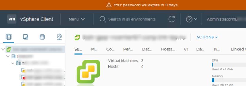 managing password expiration settings in vmware vsphere