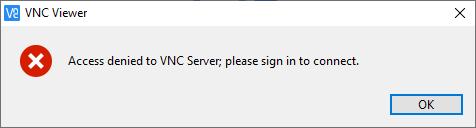 Access denied to VNC Server